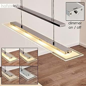 "Suspension design LED ""Malef"" 4 x 5 Watt - 4 x 400 Lumen - 3000 Kelvin - intensité variable tactile"