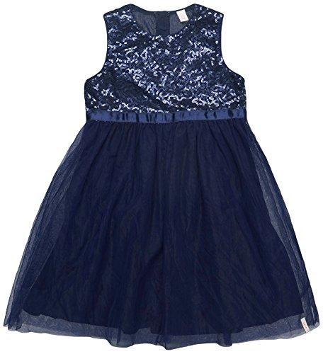 ESPRIT KIDS Mädchen Kleid RL3011301, Blau (Midnight Blue 485), 128 (Herstellergröße: 128/134)