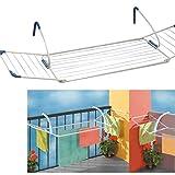 Pratiko– 837 -Étendoir à linge de balcon extensible