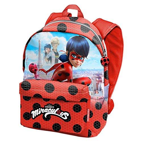 Karactermania Prodigiosa Ladybug Marinette - Disney Mochila tiempo libre con bolsillo delantero, 30cm X 42cm X 17cm, Rojo