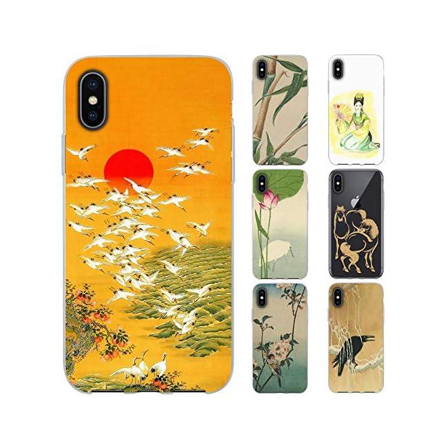 dessana Japanische Kunst Transparente Schutzhülle Handy Case Cover Tasche für Apple