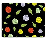 Liili Mauspad Naturkautschuk Mousepad Abstrakt Eleganz nahtlose Blumen Bild-ID 22894205