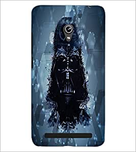 PrintDhaba Skull D-3891 Back Case Cover for ASUS ZENFONE 6 A601CG (Multi-Coloured)