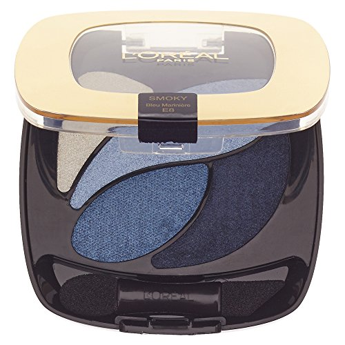 L'Oréal Paris Color Riche Quads Eyeshadow E8 Bleu Marin 2,5 g (Dunkel Blaue Mascara)