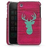 DeinDesign Coque Compatible avec Apple iPhone 3Gs Étui Housse Cerf Bois Mode...