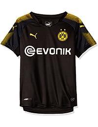 Puma BVB Logo Camiseta, Niños, Negro Black-Cyber Yellow, ...