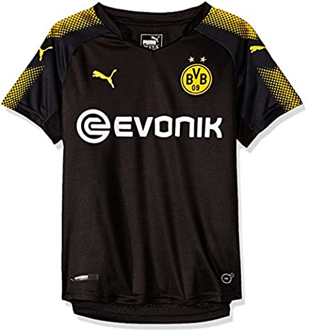 PUMA Bvb Away Replica Maillot Enfant Puma Black/Cyber Yellow FR : M (Taille Fabricant : 140)