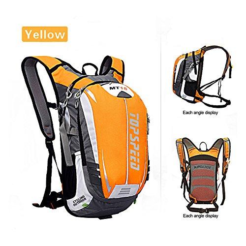 West Radfahren Rucksack Daypack für Radfahren Laufen Wandern Trekking Camping–Die meisten strapazierfähiges leicht, wasserdicht Sporttasche mit enormem Taschen für vielfachen Daypacks Gelb