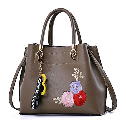 Taschen-Großhandel Handtaschen-Beutel-einfacher süßer Persönlichkeits-Trend-klassischer bequemer beiläufiger großzügiger Khaki 29x24x12cm