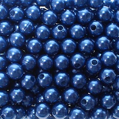 Perlas decorativas - 8 mm de diámetro con agujero Euro de 2 mm, 250 unidades, (elegir colores)