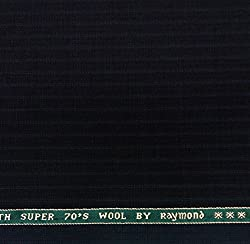 Raymond Super 70 s Wool Black Suit Length - 3 metres