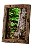 Bilderrahmen Alt-Holz aus Alter Eiche – Vintage/Rustikal Rahmen ALS besonderes Geschenk für Hochzeit oder Geburtstag in Dunkel-Braun – Reine Handarbeit (13 x 18)