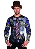 Boland 84180 Foto Realista Camiseta Mr Steam Punk, L