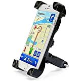 AlexVyan Adjustable Black Universal Bike Motorcycle Cycle Mount Holder Bracket 360° Degree Rotate For Phone Mobile Bicycle Handlebar Mobile Phone Holder Cradle Clamp With 360 Rotation For Any Size Apple IPhone Samsung Sony Moto LG HTC Vivo Oppo MI Hon