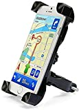 #10: AlexVyan Adjustable Black Universal Bike Motorcycle Cycle Mount Holder Bracket 360° Degree Rotate for Phone Mobile Bicycle Handlebar Mobile Phone Holder Cradle Clamp with 360 Rotation for any size Apple iPhone Samsung Sony Moto LG HTC Vivo Oppo MI Honor Redmi Lenovo Micromax Motorola Nokia Xiaomi Jio All type of Android Smartphone GPS Other-New (Pack of 1)