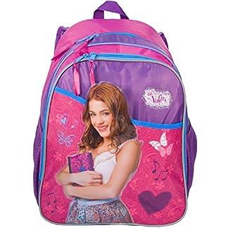 Mochila escolar Violetta 3d 45x 32Buenos Aires niña niña Paso