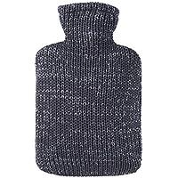 Hugo Frosch Wärmflasche Klassik, Baumwollstrick antrazith/Silber Lurex, 1,8 ltr preisvergleich bei billige-tabletten.eu