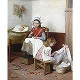 "Cares Maternal, Andre Henri Dargelas, Tablero artístico de acuarela de 315 g/m², Image size: 510mm x 420mm (20"" x 16.5"")"
