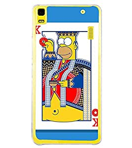 FUSON King Hearts Playing Cards Designer Back Case Cover for Lenovo A7000 :: Lenovo A7000 Plus :: Lenovo K3 Note