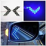 #2: EASY4BUY 2 Pcs Blue Arrow Indicator 14SMD LED Car Side Mirror Turn Signal Light