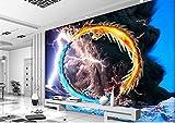 Yosot Custom Photo 3D Raum Tapete Vlies Wandbild Tornado Blitzschlag Zwei Drachen Malen 3D Wandbilder Tapeten Für Wände 3D-450Cmx300Cm