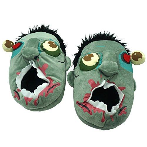 ch-Pantoffeln Monster Plüsch Hausschuh Einheitsgröße (34 bis 42) Halloween Schuhe (Monster Schuhe)