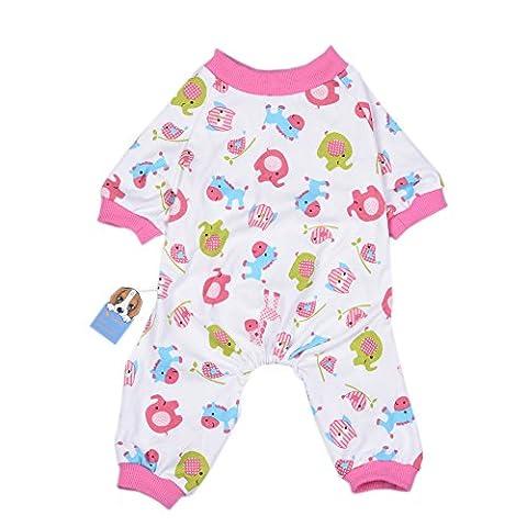 Uni Meilleur Cute Animal Patterns Pyjama Chien Chien Vêtements Chien Combinaison pour animal domestique