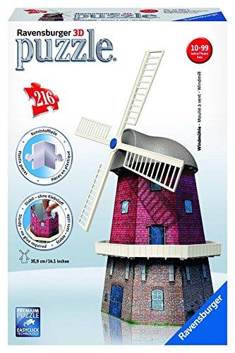 Ravensburger - 12563 - Puzzle 3D Building - 216 Pièces - Moulin À Vents