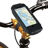 Tigra Sport BikeConsole Robuste Wasserfeste Stoߟfeste Schutzhülle und Fahrradhalterung für iPhone 6/6S - Schwarz