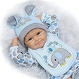 O-YLS Weiches Silikon Vinyl Magnetisch Reborn Babys Puppe Augen Offen Junge 22Zoll 55cm Baby Dolls lebensecht Toddler Spielzeug