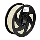 SIENOC 1 Packung 3D Drucker PLA 1.75mm Printer Filament - Mit Spule 1kg (Transparent)