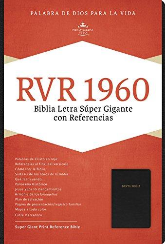 Rvr 1960 Biblia Letra Super Gigante, Negro Piel Fabricada