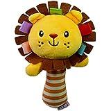 Cartoon Plush Rattles Hand Bells BB Sound Educational Hand Rattle Toys