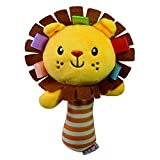 #9: TOYMYTOY Baby Rattle Toys Soft Handbell Rattles with BB Bell Developmental Toy for Infant (Lion)
