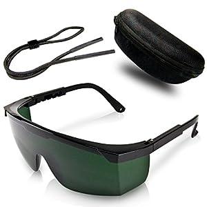 Premium Lichtschutzbrille für die HPL/IPL Haarentfernung – mit Schutzhülle und Brillenputztuch – Optimaler Schutz für Ihre Augen