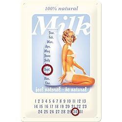 Nostalgic-Art 20234 pin Up Milk calendario diseño, 20 x 30 cm