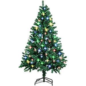 9b0cca103bc5b amzdeal Árbol de Navidad Artificial con Brillante LED 4 Colores