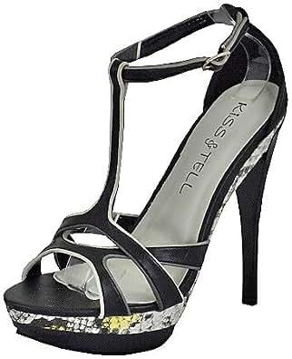 Kiss&Tell Lillian-04 Black Women Platform Sandals, 6.5 M UK