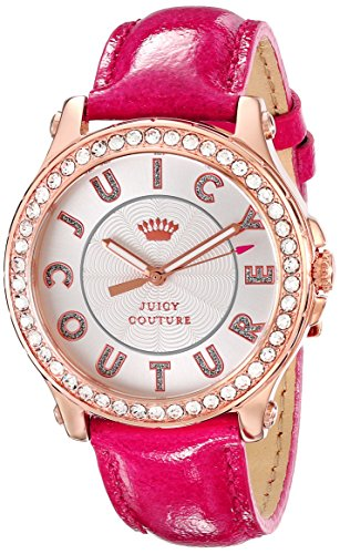 Juicy Couture Women's 1901204 Pedigree Gold-Tone Watch with Pink Leather Strap image