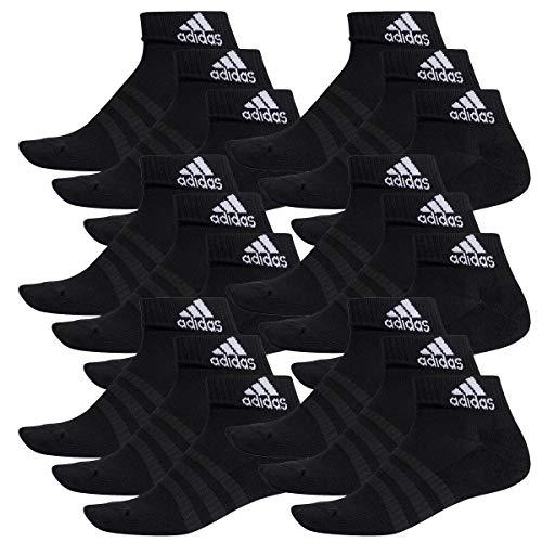 adidas 18 Paar Performance Sneaker/Quarter Socken Unisex Kurzsocke, Farbe:Black, Socken & Strümpfe:43-45 -
