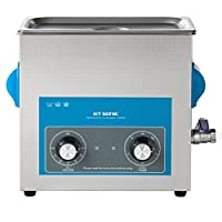 GT 6 Liter Ultrasonic Cleaner Stainless Steel Ultrasonic Cleaner Transducer Heater 40 KHz Timer Setting with 0-20 Minutes Adjutable Ultrasonic Cleaning Machine