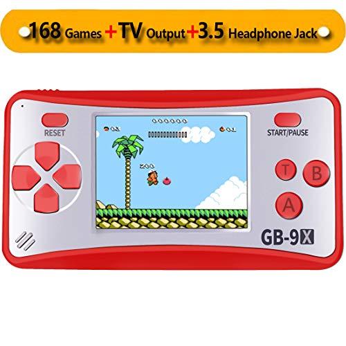 ZHISHAN Handheld Spielkonsole Retro Tragbare Spiele Konsolen inkl. 168 80er Klassische Vintage Video Spielen 2.5