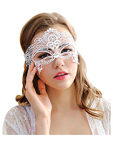 Lace Augenmaske Prom Mask Maskerade Ball Maske für Kostümparty Cosplay (White) ()