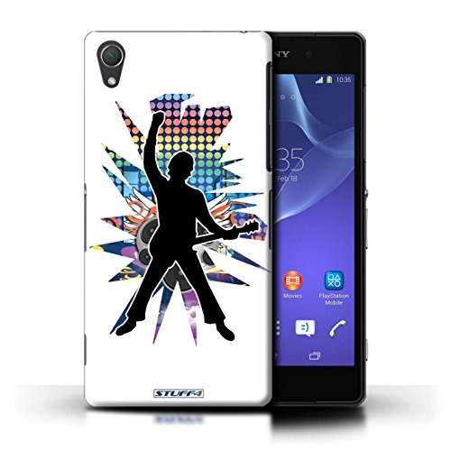 Kobalt® Imprimé Etui / Coque pour Sony Xperia Z2 / Pencher Blanc conception / Série Rock Star Pose Windmill Blanc