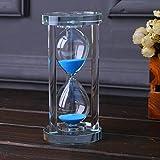 DULEE Home Office Decorator Kristall 60 Min Sanduhr Sanduhr, Blau
