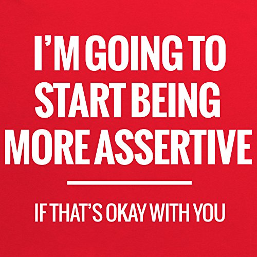 More Assertive T-Shirt, Damen Rot
