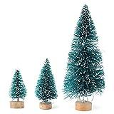 MECO 5pcs Mini Künstlicher Weihnachtsbaum Kunstbaum Christbaum Tannenbaum mit ständer Weihnachtsdeko Weihnachten Deko Geschenk H 125mm/L