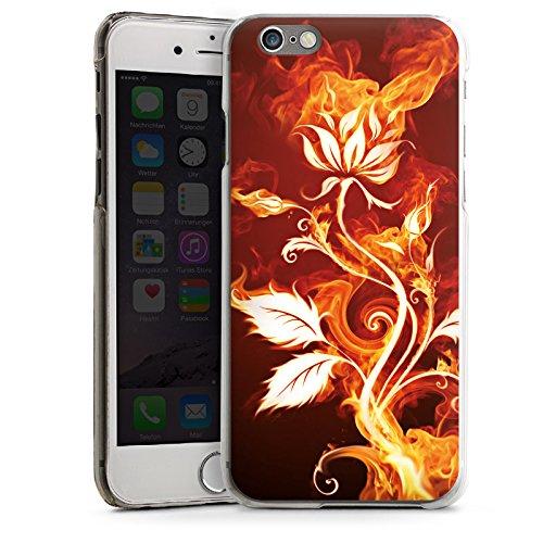 Apple iPhone 4 Housse Étui Silicone Coque Protection Rose Feu Feu CasDur transparent