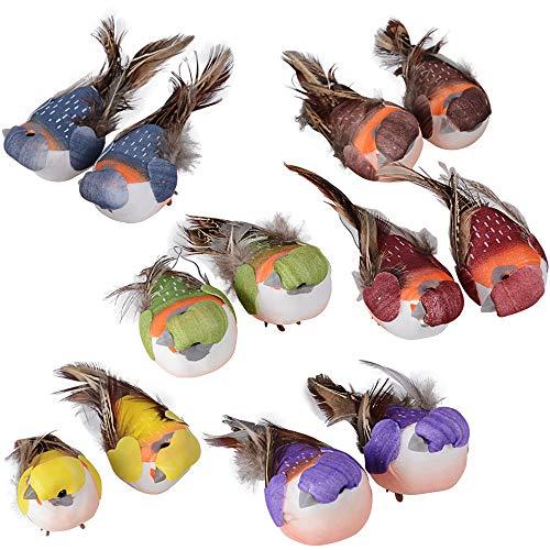 MEJOSER Mini Simulation Vögel Gefälschte Schaum Künstliche Vogel Modell Miniatur Hochzeit Deko Garten Ornament Dekoration (Vogel) -