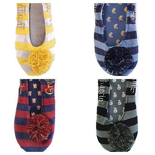 Harry Potter Slipper Socks Gryffindor Hufflepuff Ravenclaw Slytherin footlets